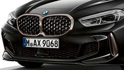 Решетка радиатора BMW в сетчатом исполнении.