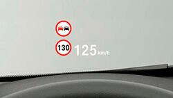 Проекційний дисплей BMW.