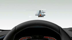 Кольоровий проекційний дисплей BMW.