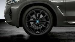 20-дюймовые легкосплавные диски BMW Y-spoke 695 Jetblack matt, полный комплект летних колес.