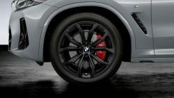 """20"""" легкосплавні диски BMW Y-spoke 695 Jet Black, матові, комплект літніх коліс в зборі."""