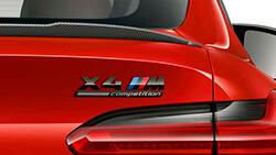 Надпись «X4 M Competition».