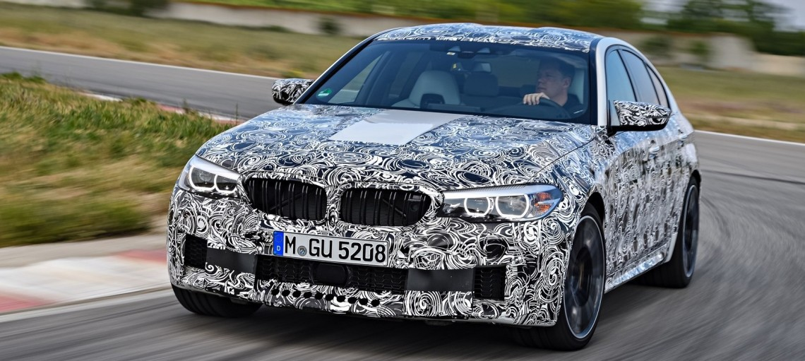 """Новий BMW M5 з системою інтелектуального повного приводу M <span class=""""little"""">x</span>Drive."""
